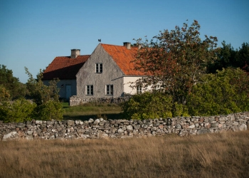 Farmstead on Fårö Island, Sweden